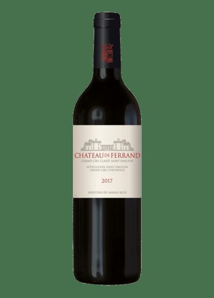 packshot d'une bouteille de chateau de ferrand millesime 2017