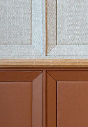 vue des materiaux utilises sur les murs du grand salon